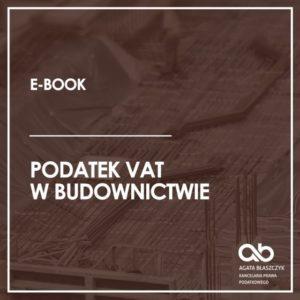 Podatek VAT w budownictwie (e-book)