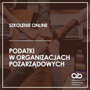 Podatki w organizacjach pozarządowych – wersja standard