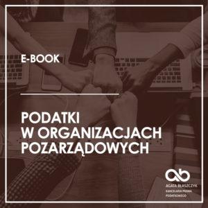 Podatki w organizacjach pozarządowych i podmiotach ekonomii społecznej (e-book)