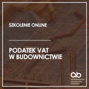 Podatek VAT w budownictwie – wersja standard