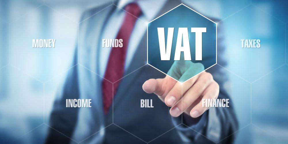 VAT / Man touching Screen